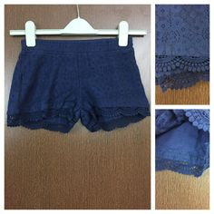 In store now: Navy Blue Lace - ..., visit http://ftfy.bargains/products/navy-blue-lace-cut-work-shorts-with-cotton-lining?utm_campaign=social_autopilot&utm_source=pin&utm_medium=pin  #amazing #affordable #fashion #stylish