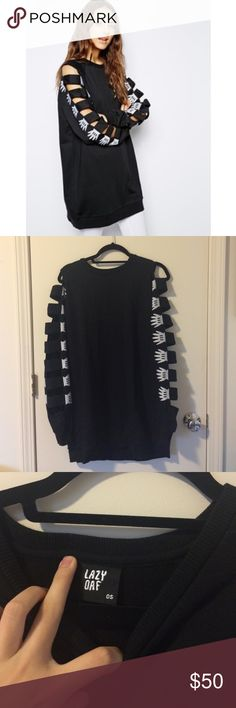 Lazy oaf armless sweatshirt os Great condition. Please comment if you have a question! Lazy Oaf Sweaters Crew & Scoop Necks