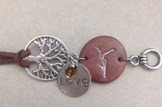 """Dave Matthews Band """"Firedancer"""" Bracelet with """"Dreaming Tree"""" and """"LoVe"""" charm on Etsy, $13.00"""