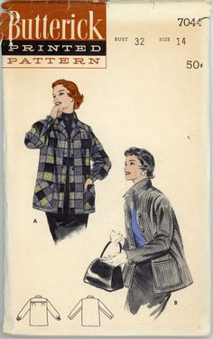 Vintage Butterick Pattern 7044  ca. 1954  Man by SadieJeanVintage