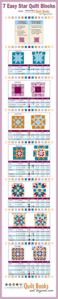 Free Download: 7 Easy Star Quilt Blocks - Quilt Books & Beyond