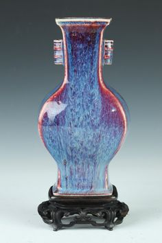 CHINESE FLAMBÉ PORCELAIN VASE. 19th Century. - 8 1/2 in. high.