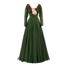 metmuseum.org - edited by Satinee ❤ liked on Polyvore featuring dresses, gowns, costume, vestidos, green color dress, green evening dress, green dress, green gown and green ball gown