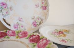 Antique German Porcelain Plates Collection Bavaria by RedHillHome, $37.00