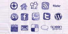 40 New and Trendy Free Social Media Bookmark Icon Sets