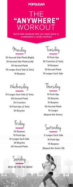 Workout Poster For the Week #workout #fit #health #exercise