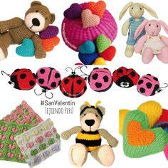 #SanValentin: regalos para tejer a #crochet y dos agujas! #amigurumi #valentines