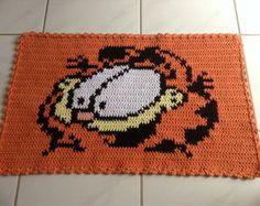 Tapete Croche Personagem Garfield