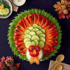 Vegetable turkey platter