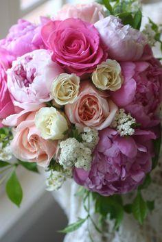 Cabbage Rose Bridal Bouquet | ... Wedding Florist: Bridal Bouquet of Peonies, Cabbage roses, spray roses
