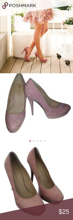 LC Lauren Conrad blush mauve platform suede heels LC Lauren Conrad blush mauve platform suede heels LC Lauren Conrad Shoes Heels
