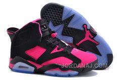 d7b243d4d8bb Buy France Nike Air Jordan Vi 6 Retro Womens Shoes Online New Black Pink  Blue from Reliable France Nike Air Jordan Vi 6 Retro Womens Shoes Online  New Black ...