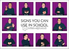 School Signs - British Sign Language (BSL)