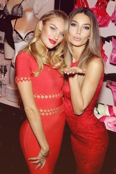 1b29e1a95e Victorias Secret Angels candice swanepoel   lily aldridge loveee both  dresses
