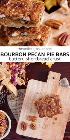 Bourbon pecan pie bars – your favourite pecan pie bite-sized! Enjoy the sweet, boozy, delicious flavours of pecan pie minus all the challenges of making one. #easyrecipe #videorecipe #dessert #baking #Thanksgiving #ThanksgivingDessert #pecanpie #pecanrecipe