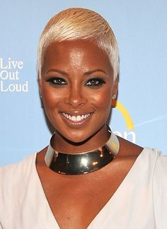 Eva Marcille's platinum blonde pixie is audaciously gorgeous and makes her stand out from the pack.