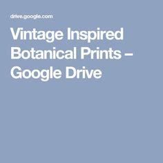 Vintage Inspired Botanical Prints – Google Drive