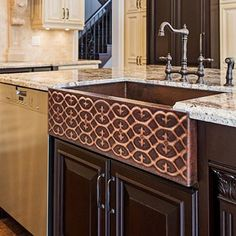 Two Tone Palace Copper Farmhouse Sink