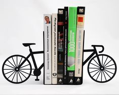 MY BIKE BOOKENDS Love bikes? Then My Bike Bookends are perfect for you! These laser cut metal bookends are strong enough to hold a bunch of your favorite books. Plasma Cnc, Book Holders, Smart Design, Book Nooks, Decoration, Laser Cutting, Home Accessories, Decorative Accessories, Bookends
