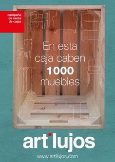 cajas de madera, cajas de fruta, cajas apilables -  €18,90  #palets #pallets #palletfurniture #palletwood