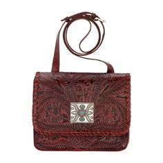 American West Fall 2016 Grand Prairie Multi Compartment Crossbody Flap... ($148) ❤ liked on Polyvore featuring bags, handbags, shoulder bags, red shoulder bag, western handbags, red handbags, crossbody handbags and red crossbody purse