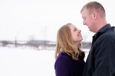 Snowy, Wintertime, Country Styled Engagement Session by Amber Langerud Photography near Audubon, MN   Andrea & Steve