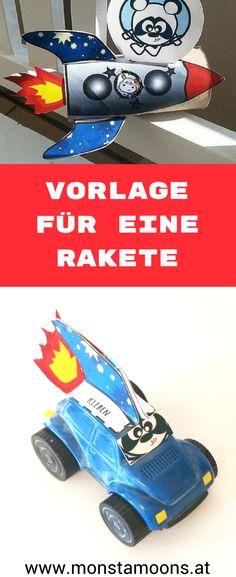Rakete basteln, DIY Ideen mit Klorollen, rocket craft, tube crafts, rocket freebie, Monstamoons