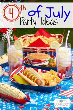 4th of July Party Ideas http://www.momsconfession.com/4th-of-july-party-ideas/