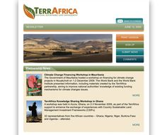 TerrAfrica eNewsletter - TerrAfrica was in need of an eNewsletter to express to readers their mission and continue to receive support working towards unlocking critical bottlenecks and mainstreaming effective sustainable land management (SLM) practices. Using calming tones from their color palette, round gradated tabs, and large vivd photography, this eNewsletter is easy to follow and read, explaining the depth of their effort.