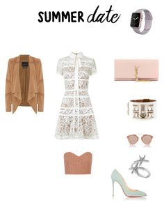 """""""Untitled #297"""" by sophiebbe ❤ liked on Polyvore featuring Elie Saab, Christian Louboutin, TIBI, Oui, Allurez, Christian Dior, Hermès, Yves Saint Laurent, summerdate and rooftopbar"""