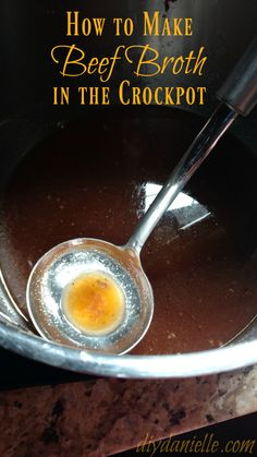 Crockpot beef broth is AMAZING. It's also very easy to make in the crockpot. This simple recipe tastes great.