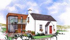 Myndaniðurstaða fyrir modern extension on old cottage Irish Cottage, Old Cottage, Cottage House Plans, Cottage Ideas, Cottage Extension, House Extension Design, Bungalow Extensions, House Extensions, Cottage Design