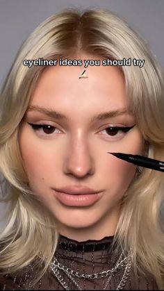 Makeup Lessons, Makeup Tips, Eye Makeup, Hair Makeup, Eyeliner Looks, Winged Eyeliner, Creative Makeup, Simple Makeup, Special Makeup