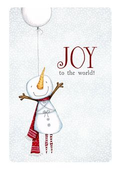 christmas card card snowman winter balloon by staceyyacula