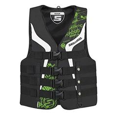 BRP SeaDoo Mens Nylon Motion Life Jacket Vest PFD GREEN LARGE ** For more information, visit image link.Note:It is affiliate link to Amazon.
