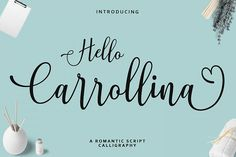 Hello Carrollina Script Modern Script Font, Script Logo, 1920s Font, Calligraphy Fonts, Lettering, Swirly Fonts, Microsoft Word 2010, Wedding Fonts, Retro Font