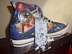 b2acd29a9723 Converse Trinity Superman Batman Wonder Woman DC Comics Sneakers SZ 10 Woman  12  Converse