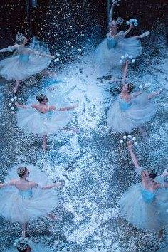 The Snowflakes in NYCB's The Nutcracker. This was one of the most beautiful things I have ever seen. I cried.
