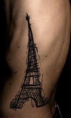 Eiffel tower sketch tattoo