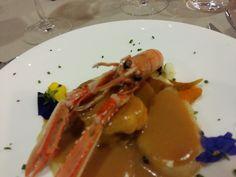 Wigilijna przystawka - ziemniaki + lobster. Barcelona