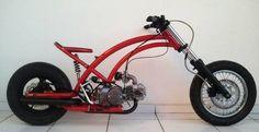 Chopper motorcycle rat bikes cars 41 ideas for 2019 Triumph Motorcycles, Concept Motorcycles, Cars And Motorcycles, Mini Motorbike, Mini Bike, Gas Powered Bicycle, Motocross, Bike Motor, Electric Cargo Bike