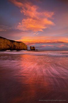 ~~Enter the Dragon ~ intense beach sunset, Dunedin, New Zealand by Kah Kit Yoong~~