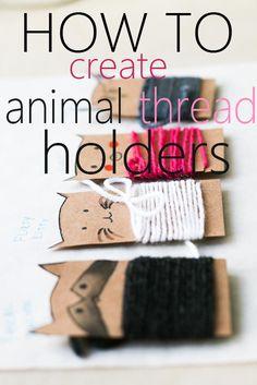 DIY: How to make easy animal thread holder by akwiinas
