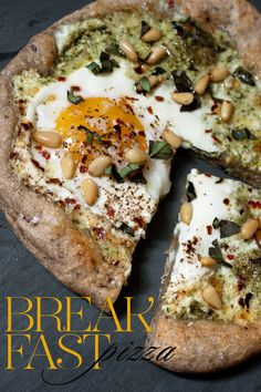 John and Elana Talk About Food - Blog  breakfast pizza: egg , ricotta and pesto