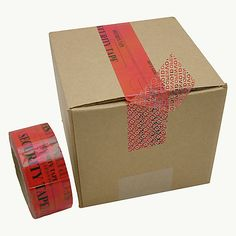 "JVCC TEV-ST Tamper Evident Carton Sealing Tape is a premium security packaging tape. A hidden message, ""OPENED VOID"", is deposited on the container if the tape is removed or tampered with.  Find it at FindTape.com"