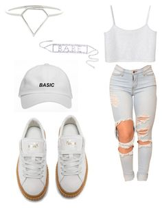 """""""Untitled #1147"""" by jwolley ❤ liked on Polyvore featuring Puma and Monki"""