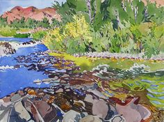 Sheila Gardner Little Rapids on Big Wood I Gail Severn Gallery
