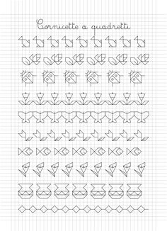 foglio 09.gif 1.365×1.890 pixel                                                                                                                                                      Más Blackwork Patterns, Blackwork Embroidery, Zentangle Patterns, Cross Stitch Embroidery, Graph Paper Drawings, Graph Paper Art, Easy Drawings, Cross Stitch Borders, Cross Stitching