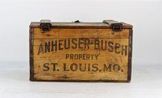 Anheuser Busch Wood Crate, 1933 Anheuser Busch Wood Crate, Vintage Budweiser Crate, Beer Crate, Bud Wood Crate, 1933 Budweiser Crate by HuntandFound on Etsy