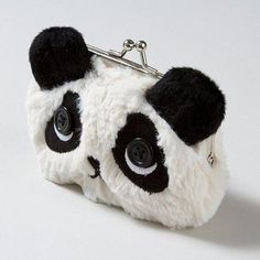 Absolutely adorable Fuzzy Panda Coin Purse with button eyes & mine. Panda Love, Red Panda, Cute Panda, Panda Kawaii, Panda Lindo, Animal Crackers, Backpack Bags, Purses And Bags, Coin Purse